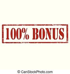 100% Bonus-stamp