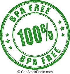 100 bpa free stamp