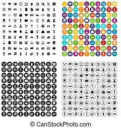 100 business icons set variant