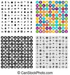 100 cake icons set variant