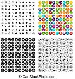 100 call center icons set variant