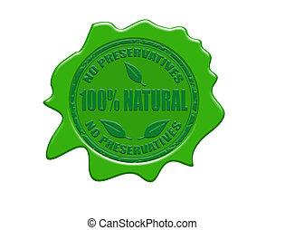 100%, cire, naturel, cachet