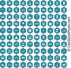 100 city icons sapphirine violet
