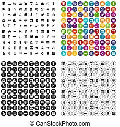 100 comfortable house icons set variant