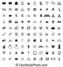 100, compañía, iconos