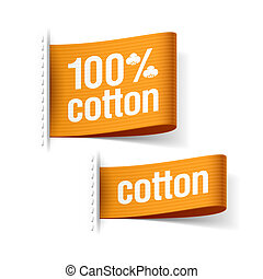 100% cotton product clothing labels