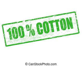 100% Cotton stamp