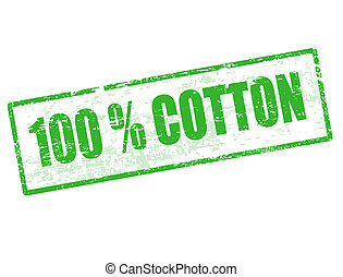 100% Cotton stamp