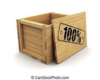 100%., coupure, bois, image, caisse, timbre, sentier