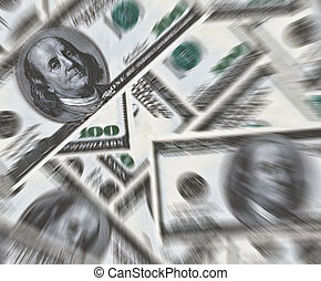 100 dólar, billetes de banco, plano de fondo