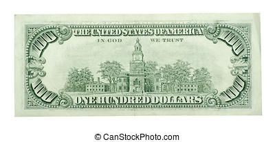 100, dólar