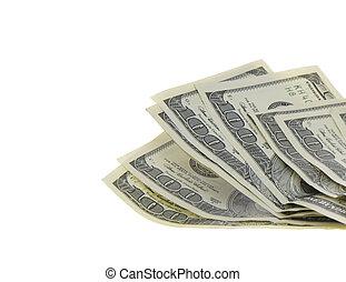 100 dólar, us., aislado