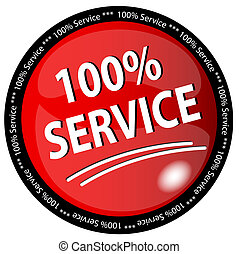 100%, dienst, knoop