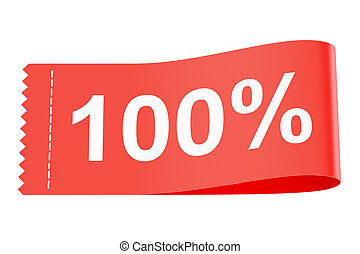 100% discount clothing tag, 3D rendering