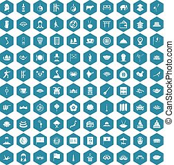 100 dish icons sapphirine violet