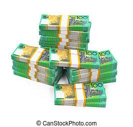 100, dollar, australien, piles