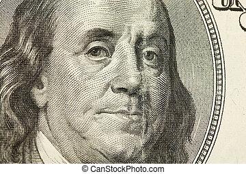 100 Dollar Bill Abstract