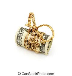 $100, dollar, bundet, lagförslaget, stack, band