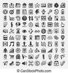 100 Doodle Web Icons