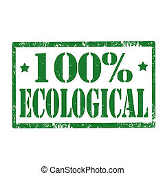 100% Ecological-stamp
