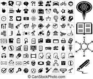 100, educazione, icone