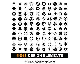 100, elemente, design