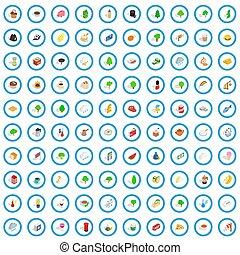 100 england icons set, isometric 3d style