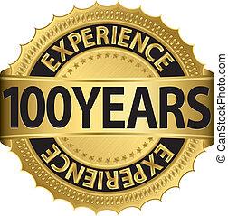 100, erfahrung, jahre