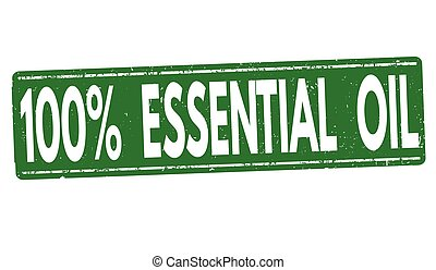 100% Essential oil stamp or sign