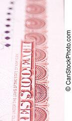 $100, estados unidos de américa, certificado, u..s.., 1919, borde, cada, acción