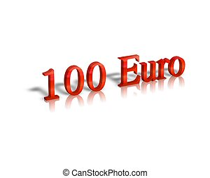 100 euro 3d word