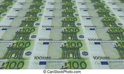 100 euro bills, Printing Money