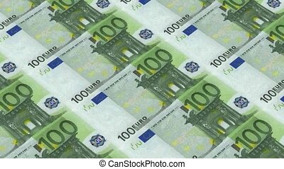 100 euro bills,Printing Money