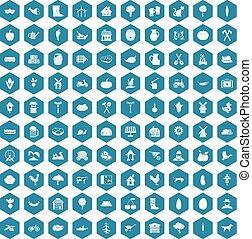 100 farm icons sapphirine violet - 100 farm icons set in...