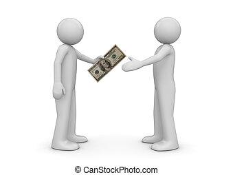 $100, finance, -, collection, note, autre, donne, homme