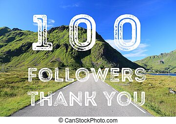 100 followers sign