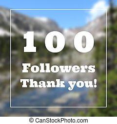 100 followers thank you