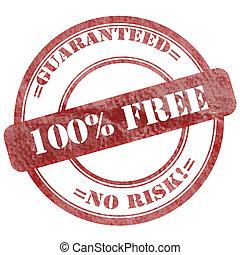 100% Free Red Grunge Seal Stamp
