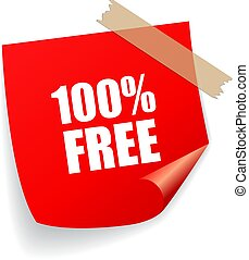 100 free red vector sticker