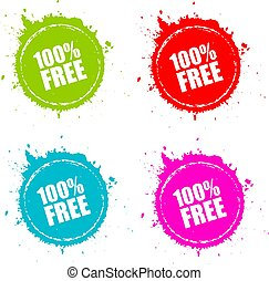 100 free round splatter icon