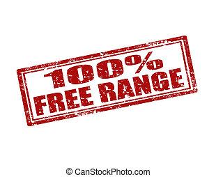 100%, frei, range-stamp