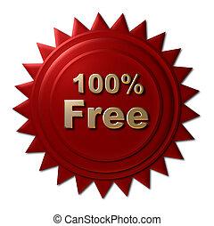 100%, -, gratuite, rouges