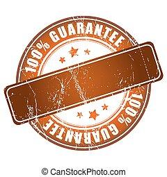 100% guarantee brown stamp.