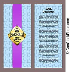 100 Guarantee Premium Quality Best Offer Poster
