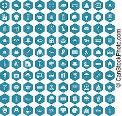 100 hat icons sapphirine violet