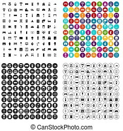 100 home icons set variant - 100 home icons set in 4 variant...