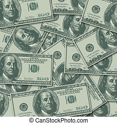 100 Hundred Dollar Bill Money Currency Background - Hundred...