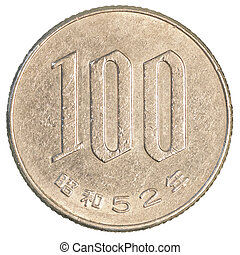 100 japanese yens coin