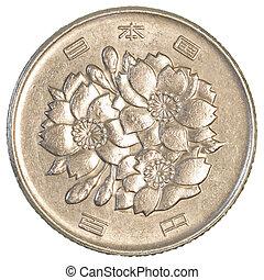 100, japansk, yen, mynt