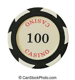100, kasino, dollars, chips
